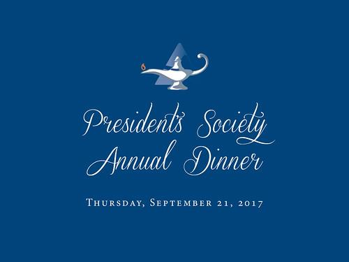 9.21.17 President's Society Annual Dinner