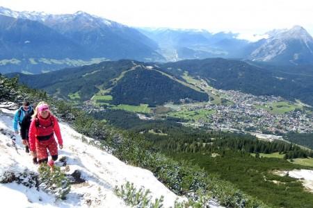 Bike SNOW tour: Seefeld – údolím na kole, po hřebenech pěšky