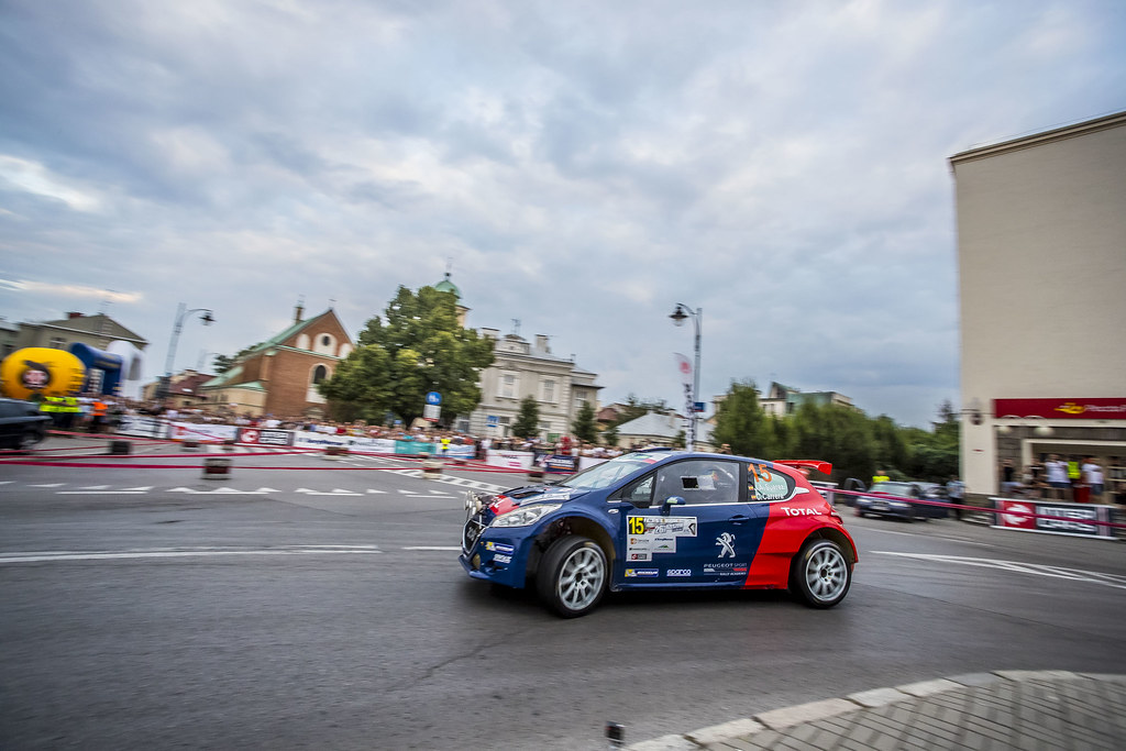 15 SUAREZ Jose Antonio (ESP) CARRERA ESTEVEZ Candido (ESP) Peugeot 208 T 16 action during the 2017 European Rally Championship Rally Rzeszow in Poland from August 3 to 5 - Photo Gregory Lenormand / DPPI