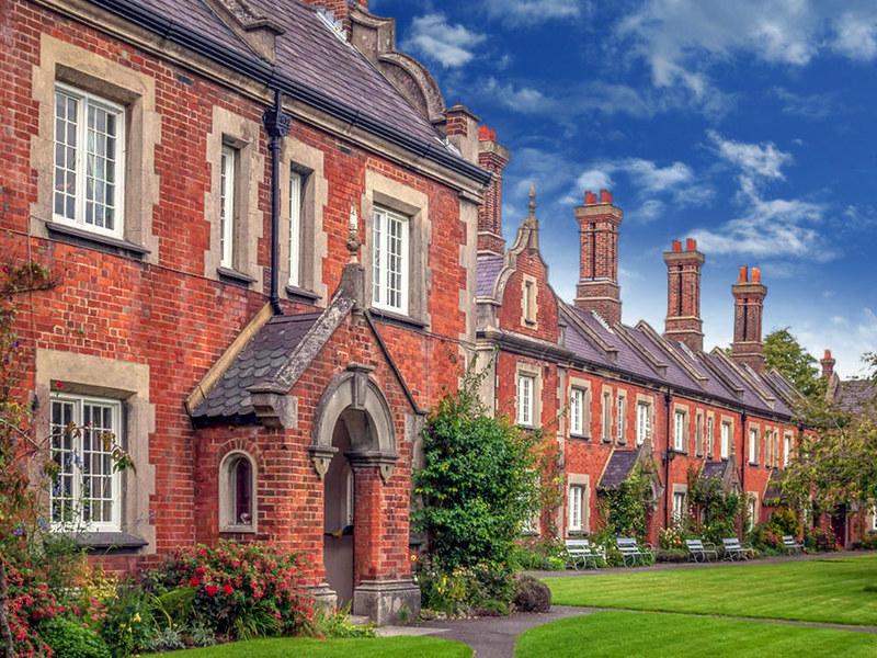 St. John's almshouses in Winchester. Credit Anguskirk, flickr