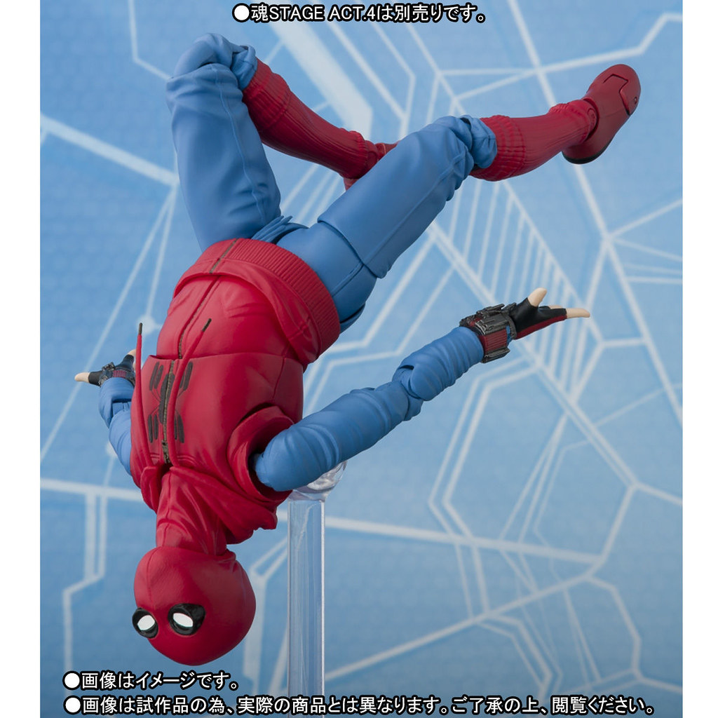 S.H.Figuarts 蜘蛛人:返校日【蜘蛛人(自製服裝ver.)&鋼鐵人馬克47】スパイダーマン(ホームカミング) ホームメイドスーツver. & アイアンマン マーク47