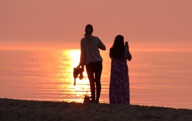 Ladies on the beach..