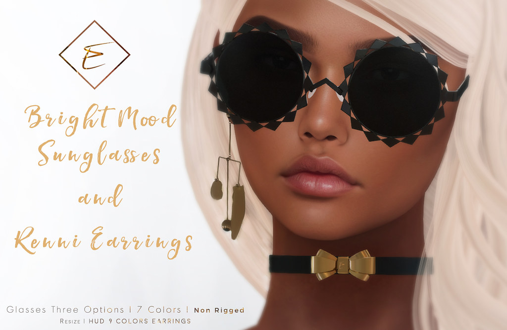 [Enchante'] - Sunglasses and Earrings@Sanarae - SecondLifeHub.com