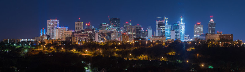 Edmonton Skyline from McNally