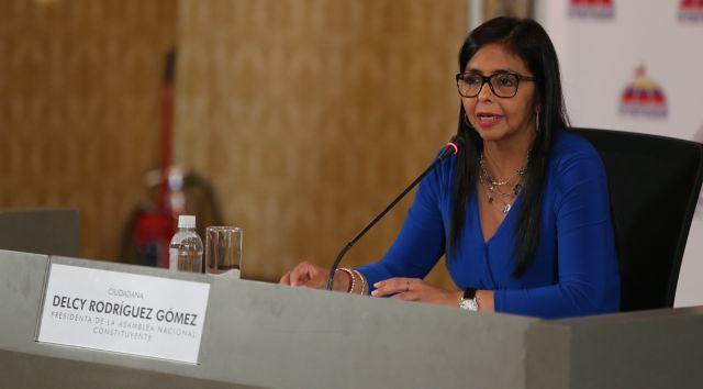 Delcy Rodríguez ainda questionou a legalidade das sanções do governo estadunidense - Créditos: Agencia Venezolana de Noticias