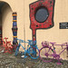 Bycicles art, Hundertwasser-Market Hall, Staad-Altenrhein, Switzerland
