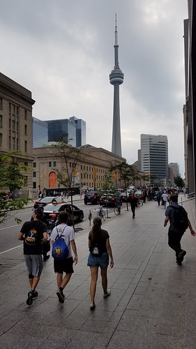 walking to Rogers Center