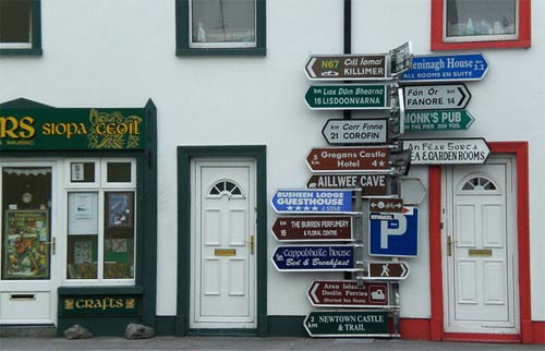 Irish Sign Post