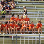 Womens soccer in stands (Sept 2, 2017 Larry Read)