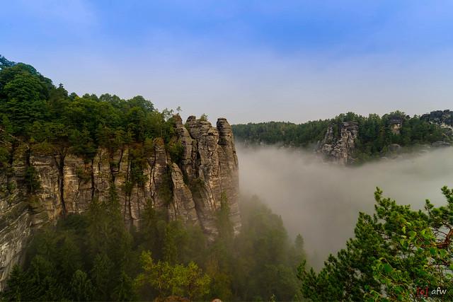 Nebel an der Bastei