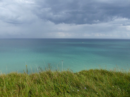 Rain clouds out to sea