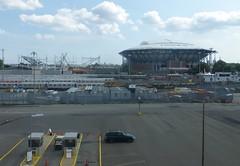 U.S. National Tennis Center Arthur Ashe Stadium & new stadium under construction