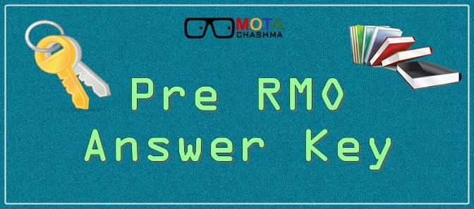 Pre RMO Answer Key