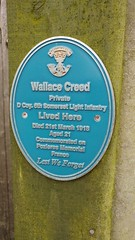 Photo of Wallace Creed blue plaque