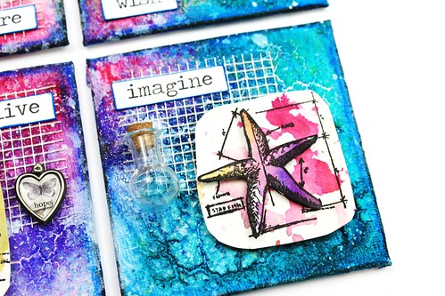Meihsia Liu Simply Paper Crafts Mixed Media Mini Canvas Nautical Simon Says Stamp Tim Holtz 4