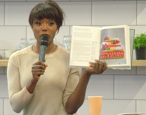 Chef Lorraine Pascale flogging her new book