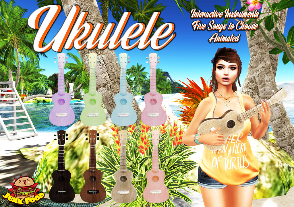 Junk Food - Ukulele Ad - SecondLifeHub.com