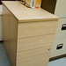 Maple desk high pedestal  E75