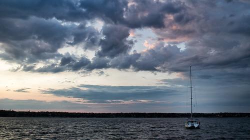 canoneosm canon beach clouds sky sunset ukraine nature river autumn sail boat yaht mykolaiv storm rain shore water blue
