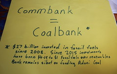 Combank = Coal Bank with Footnote sign