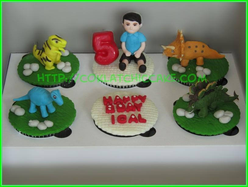 cupcake set dino