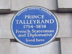 Photo of Charles Maurice de Talleyrand-Périgord blue plaque