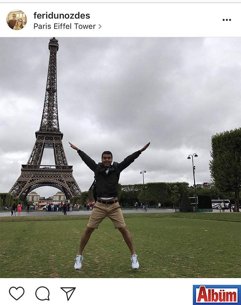 Özgün Kardelen Özel Eğitim Okulu'nun kurucusu Feridun Özdeş, Fransa'nın simgesi Eyfel Kulesi önünden bu fotoğrafı paylaştı.