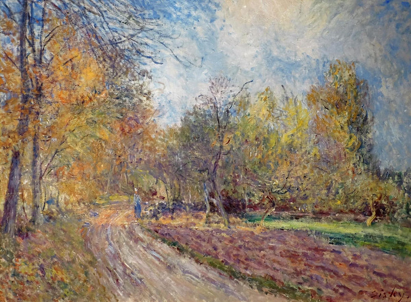 Edge of a Forest in Autumn by Alfred Sisley, 1883