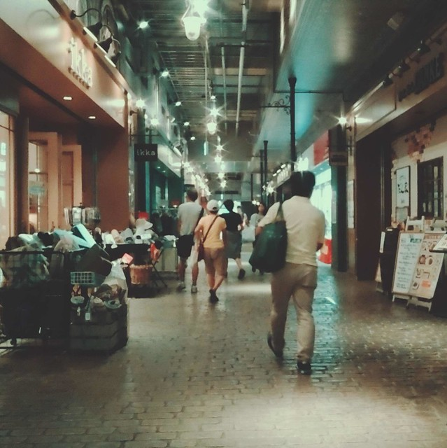 Shops in underpass