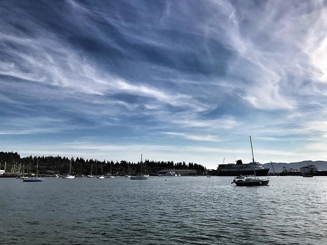 Peaceful. #clouds #sky #water #pugetsound #ferry