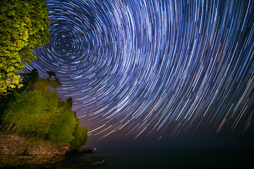 Star Trails in Door County