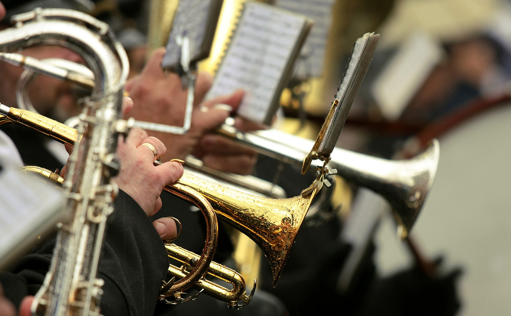 photo of brass band performing
