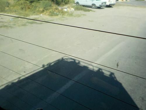 影でチャリの生存を確認する