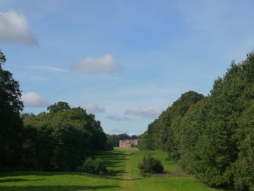 Crossing the Avenue, with Chillington Hall in the Distance