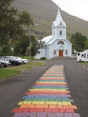 Coloured path to heaven ?, Seydisfjordur, Iceland