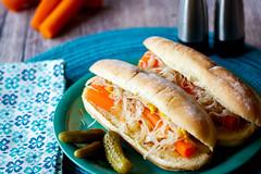 vegetarian hot dog