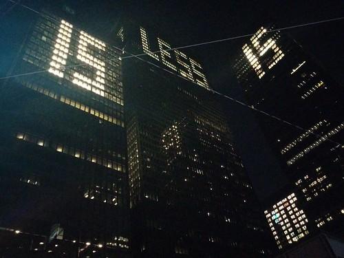 """Less is more or"" (3) #toronto #financialdistrict #torontodominioncentre #audemoreau #lessismoreor #lights #tower #skyscraper #miesvanderrohe #minimalism"