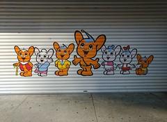 I think this is Japanese gang graffiti