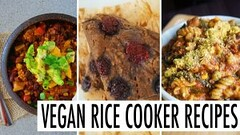 3 RICE COOKER RECIPES // HEALTHY, EASY & VEGAN