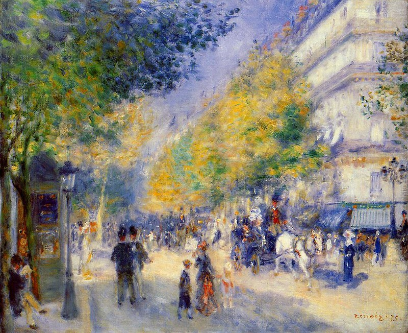 The Great Boulevards by Pierre Auguste Renoir, 1875