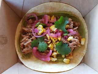 Mexican Street Corn Taco from Green Street Foods at Brisbane Vegan Twilight Markets