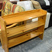 Natural pine open shelf unit E50