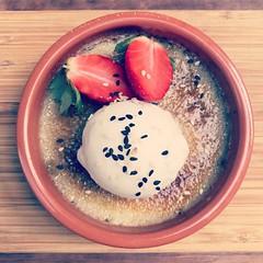 black sesame crème brulée