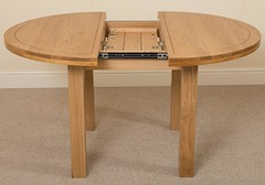 Edmonton Solid Oak Extending Dining Table