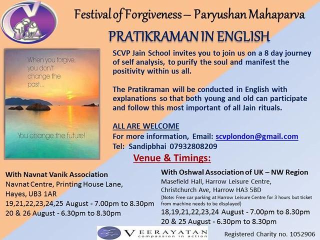 SCVP English Pratikraman - Paryushan 2017
