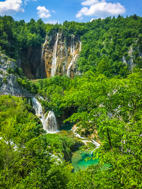 Stunning Waterfalls At Plitvice Lakes National Park Croatia