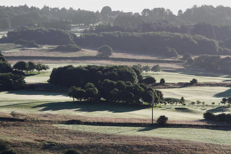 Early morning haze on Bradford Golf Club