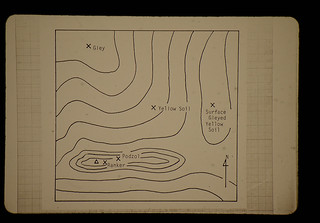 Topo-map Of Kapur Areas In Kanchin F.R. = カンチン国有林・カプール生育地の地形