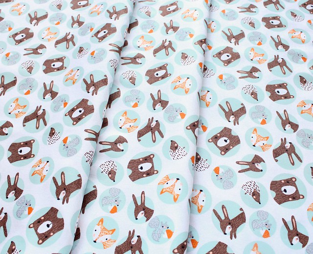 3 Wishes Fabric Forest Friends 11730-TURQ
