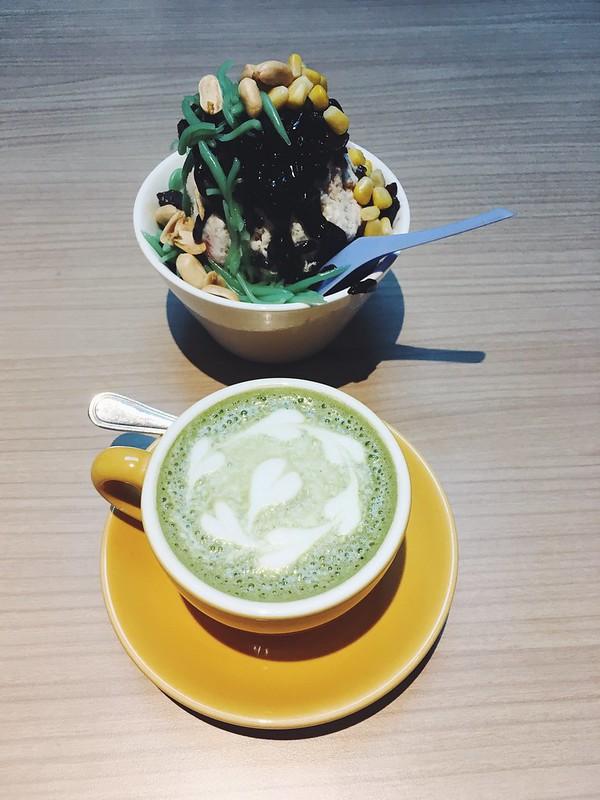 Ais Kacang + Matcha Latte